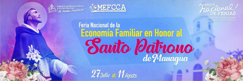 Feria Nacional de La Economía Familiar en Honor al Santo Patrono de Managua