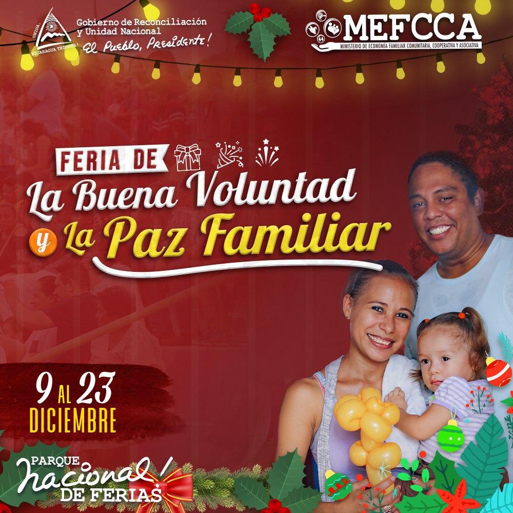 ¡Feria de la Buena Voluntad y la Paz Familiar!