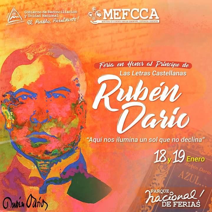 """Feria en Honor al Príncipe de las Letras Castellanas Rubén Darío; """"Aquí nos ilumina un sol que no Declina"""""""