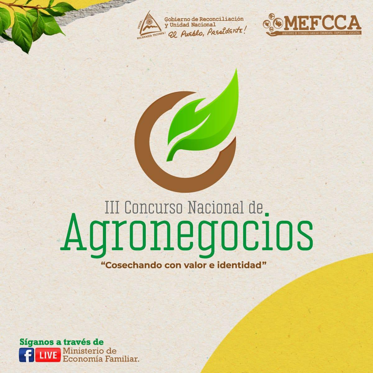"III CONCURSO NACIONAL DE AGRONEGOCIOS ""Cosechando con Valor e Identidad"""