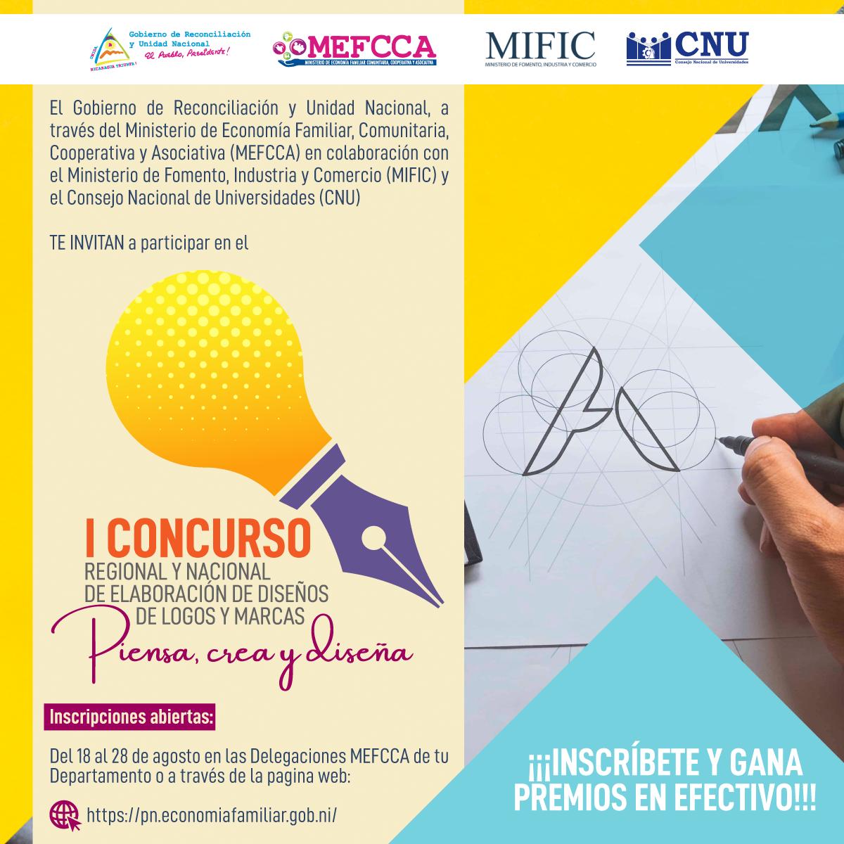 """PRIMER CONCURSO REGIONAL Y NACIONAL DE ELABORACIÓN DE LOGO Y MARCAS: """"Piensa, Crea y Diseña"""""""